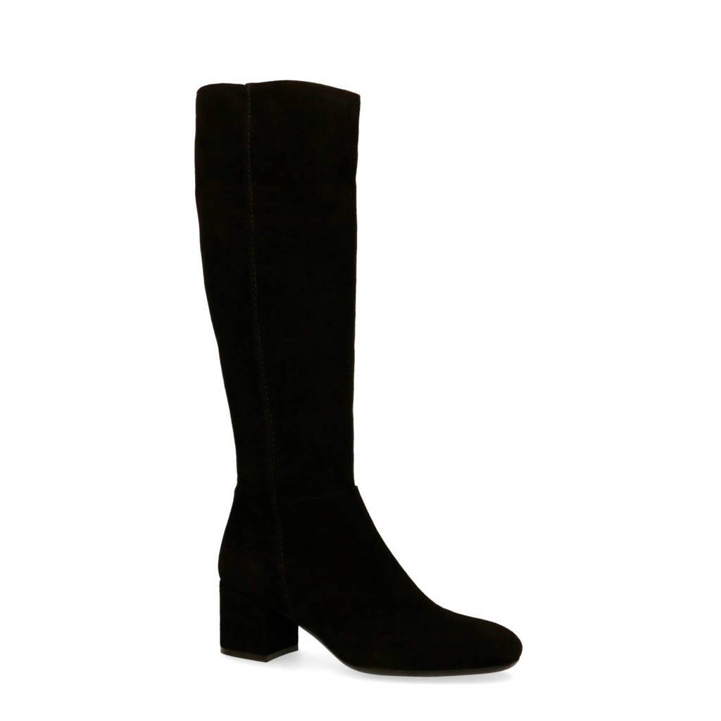 Sacha   suède laarzen zwart, Zwart