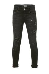 Raizzed skinny jeans Tokyo met slijtage zwart verwassen, Zwart verwassen