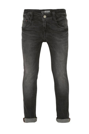 slim fit jog denim Boston zwart verwassen