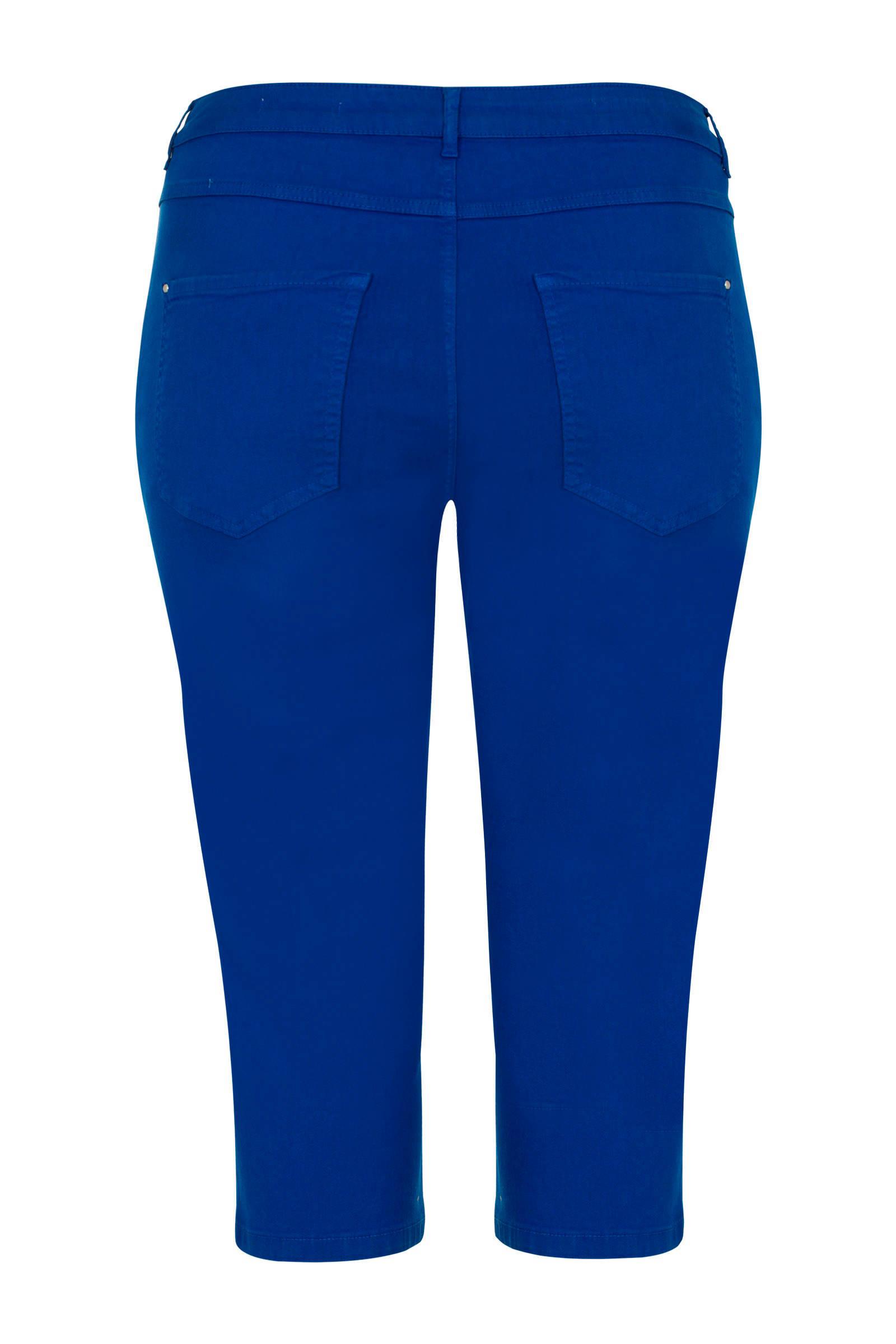 57e30403695 slim fit capri kobaltblauw