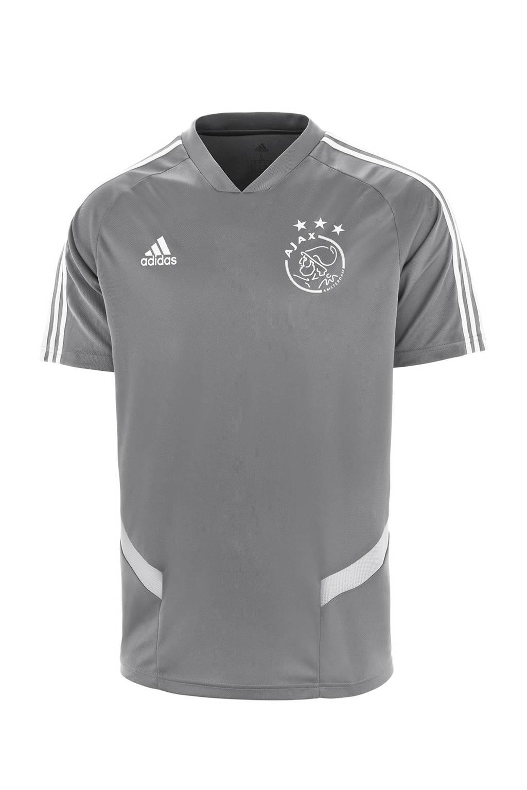 adidas Junior Ajax voetbalshirt Training, Grijs/wit