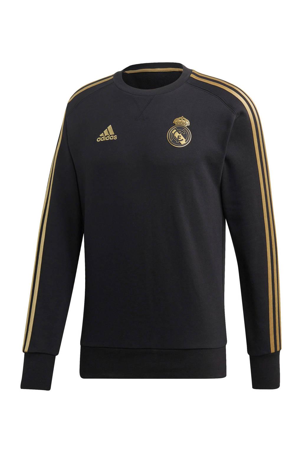 adidas Senior Real Madrid voetbalsweater, Zwart/goud