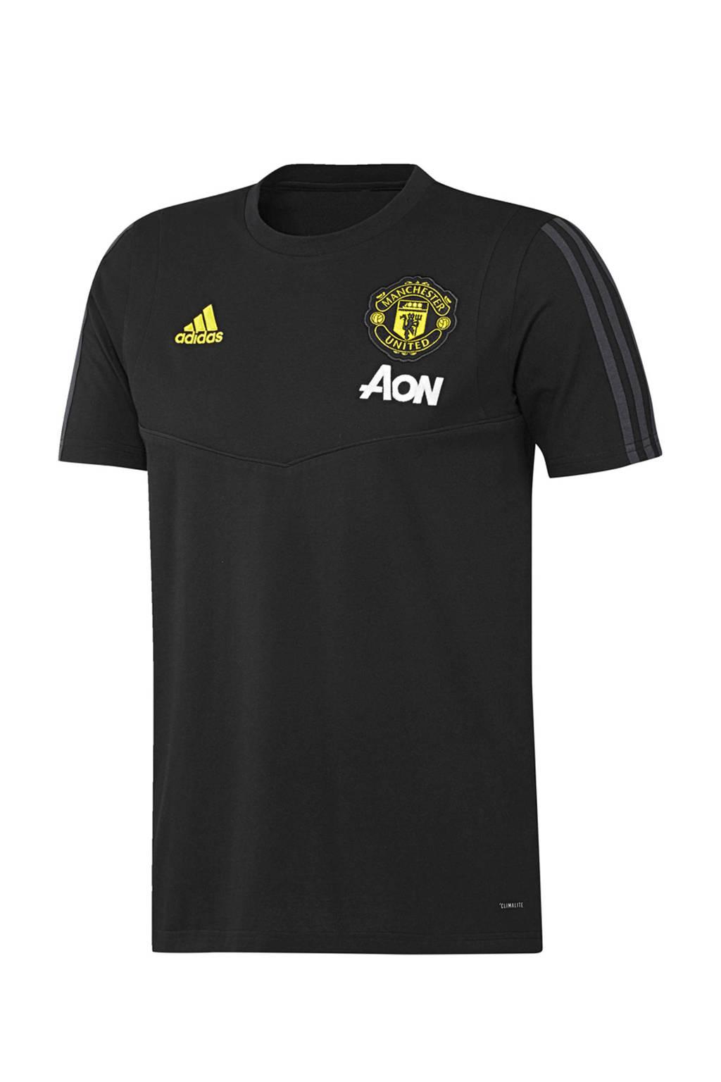 adidas Senior Manchester United voetbalshirt, Zwart/grijs