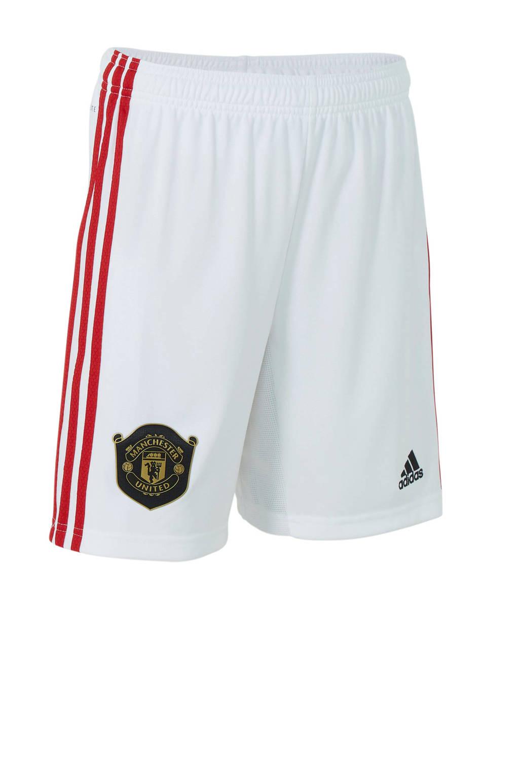 adidas Junior Manchester United voetbalshort Thuis, Wit