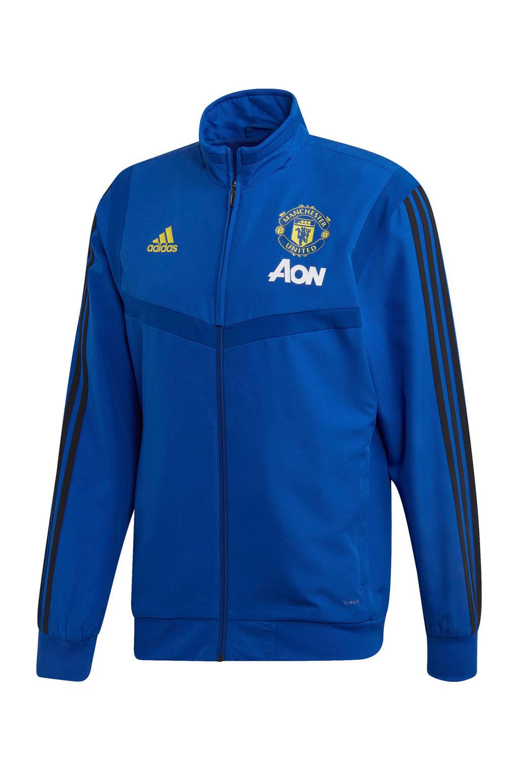 adidas Senior Manchester United voetbaljack Presentatie, Blauw/zwart