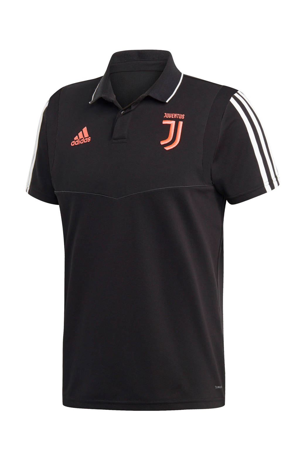 adidas performance Senior Juventus voetbalpolo zwart, Zwart/grijs