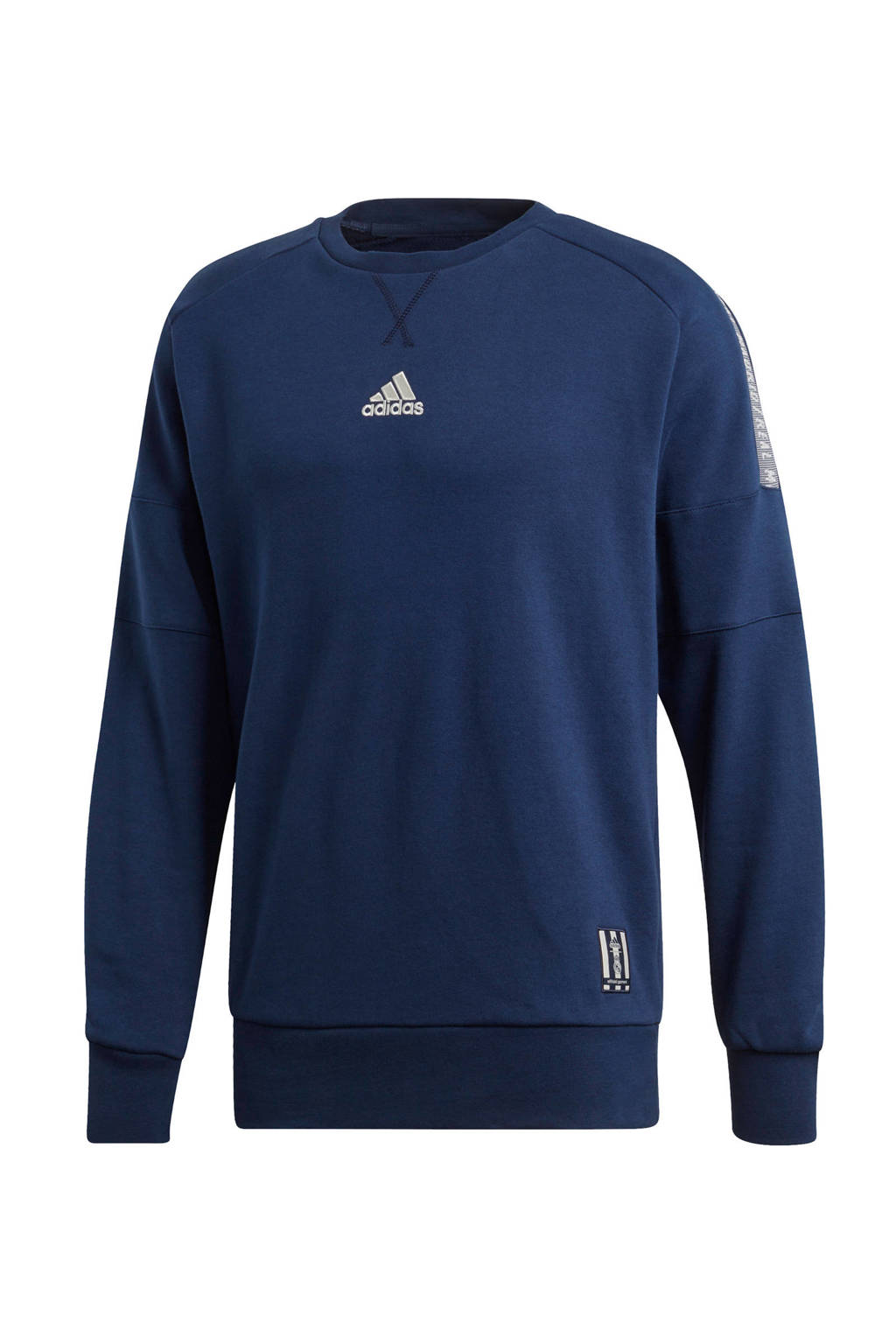 adidas performance Senior Real Madrid voetbalsweater blauw, Donkerblauw/wit