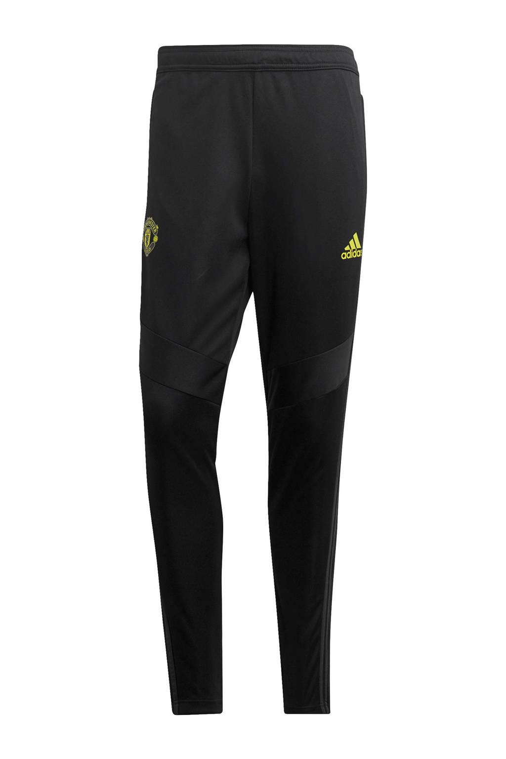 adidas Senior Manchester United voetbalbroek Training, Zwart/grijs
