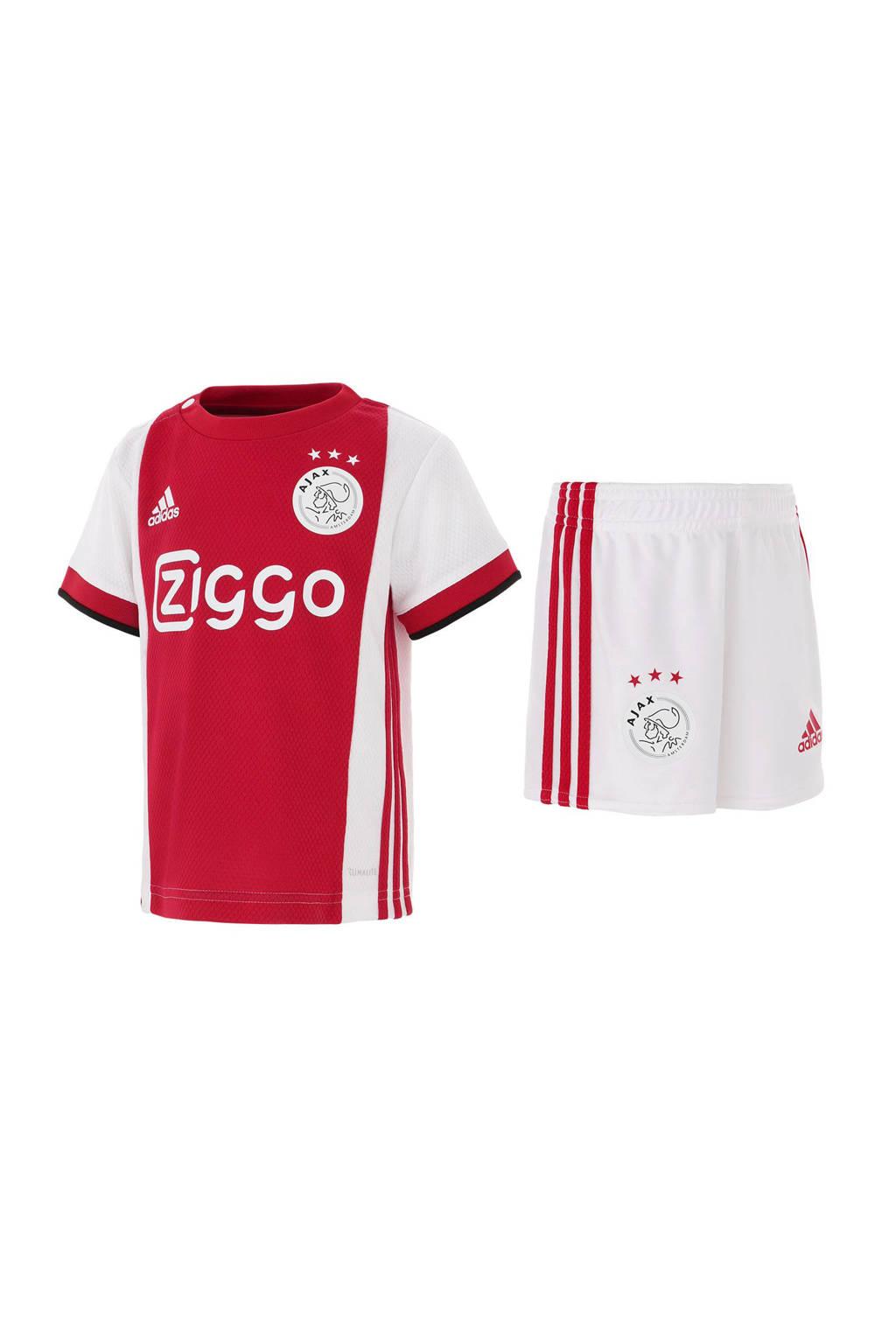 adidas performance T-shirt + short, Rood/wit/zwart
