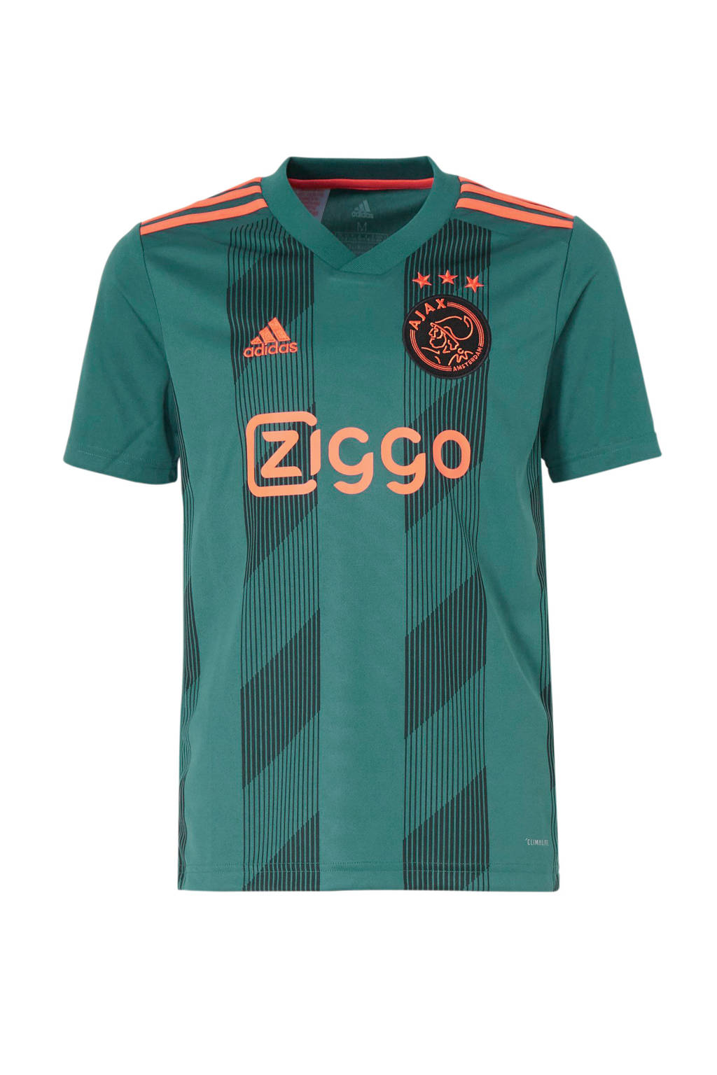 adidas Junior Ajax voetbalshirt Uit, Groen/zwart/oranje