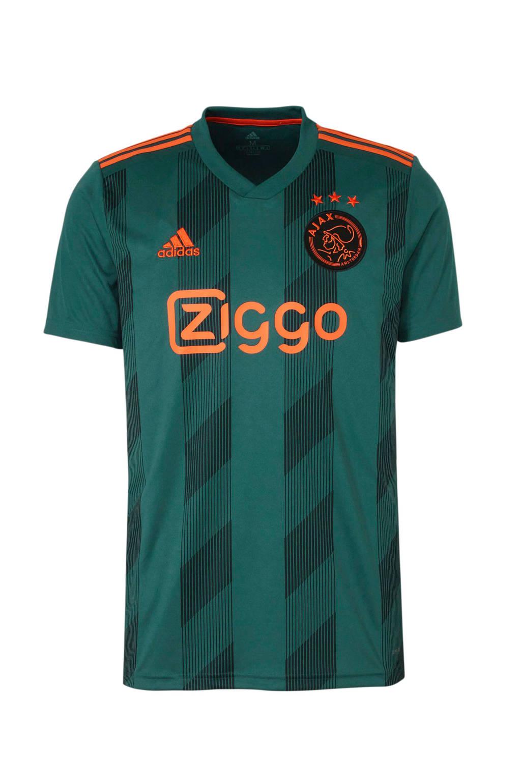 adidas performance Senior Ajax voetbalshirt Uit, Heren, Groen/zwart/oranje