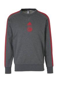 adidas Performance Senior Ajax voetbalsweater, Antraciet/rood