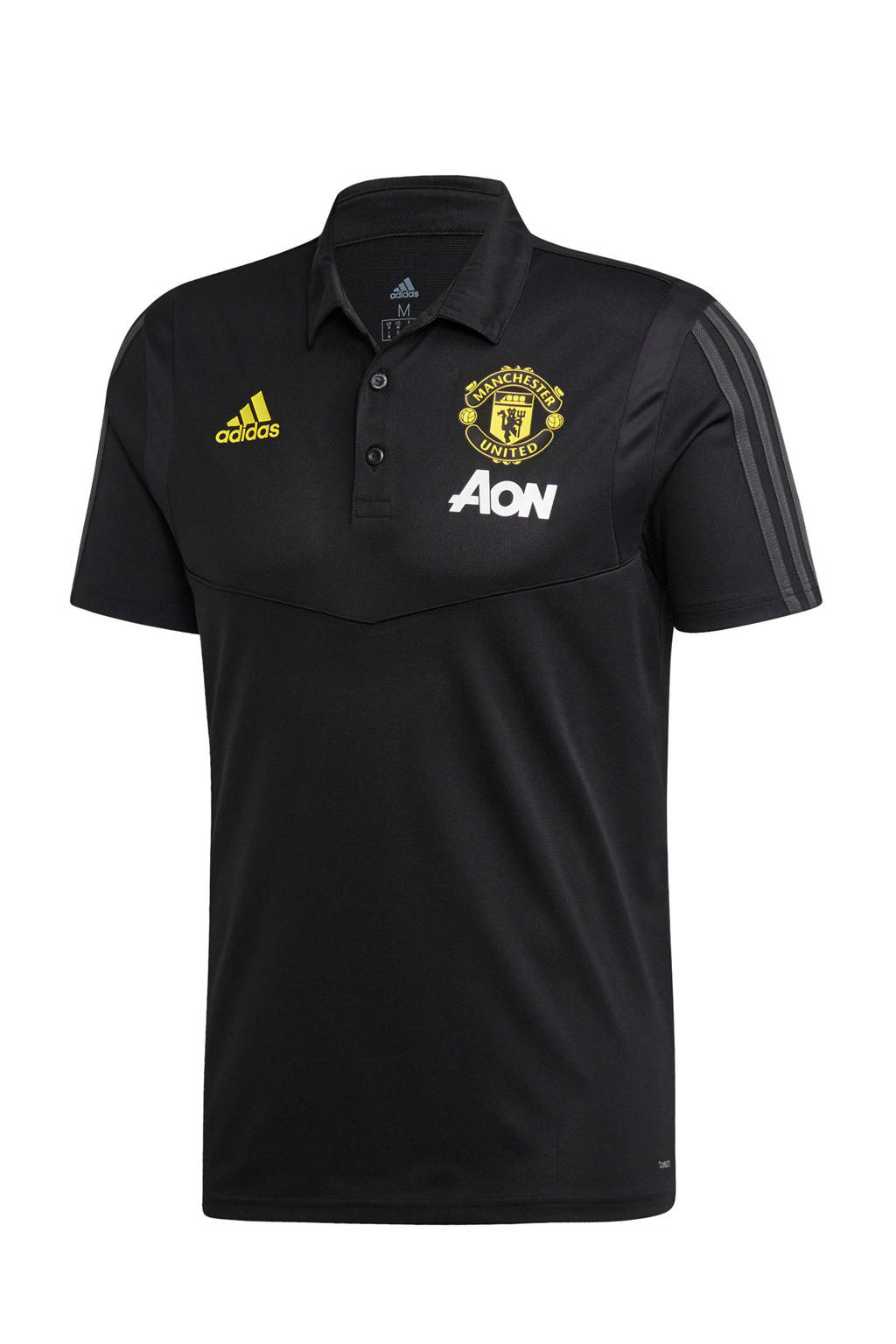 adidas Senior Manchester United voetbalpolo, Zwart/goud