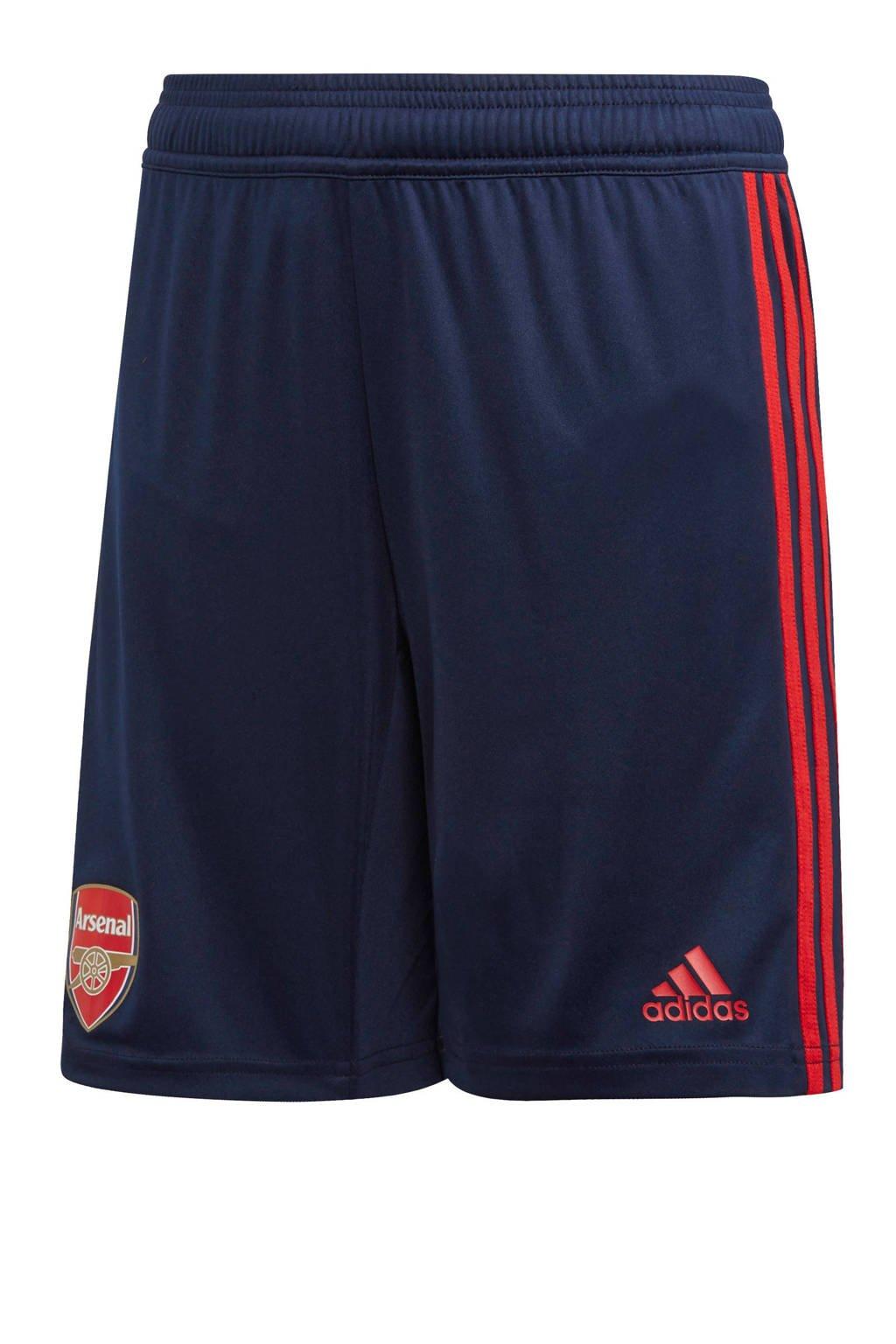 adidas Junior Arsenal FC voetbalshort, Donkerblauw/rood
