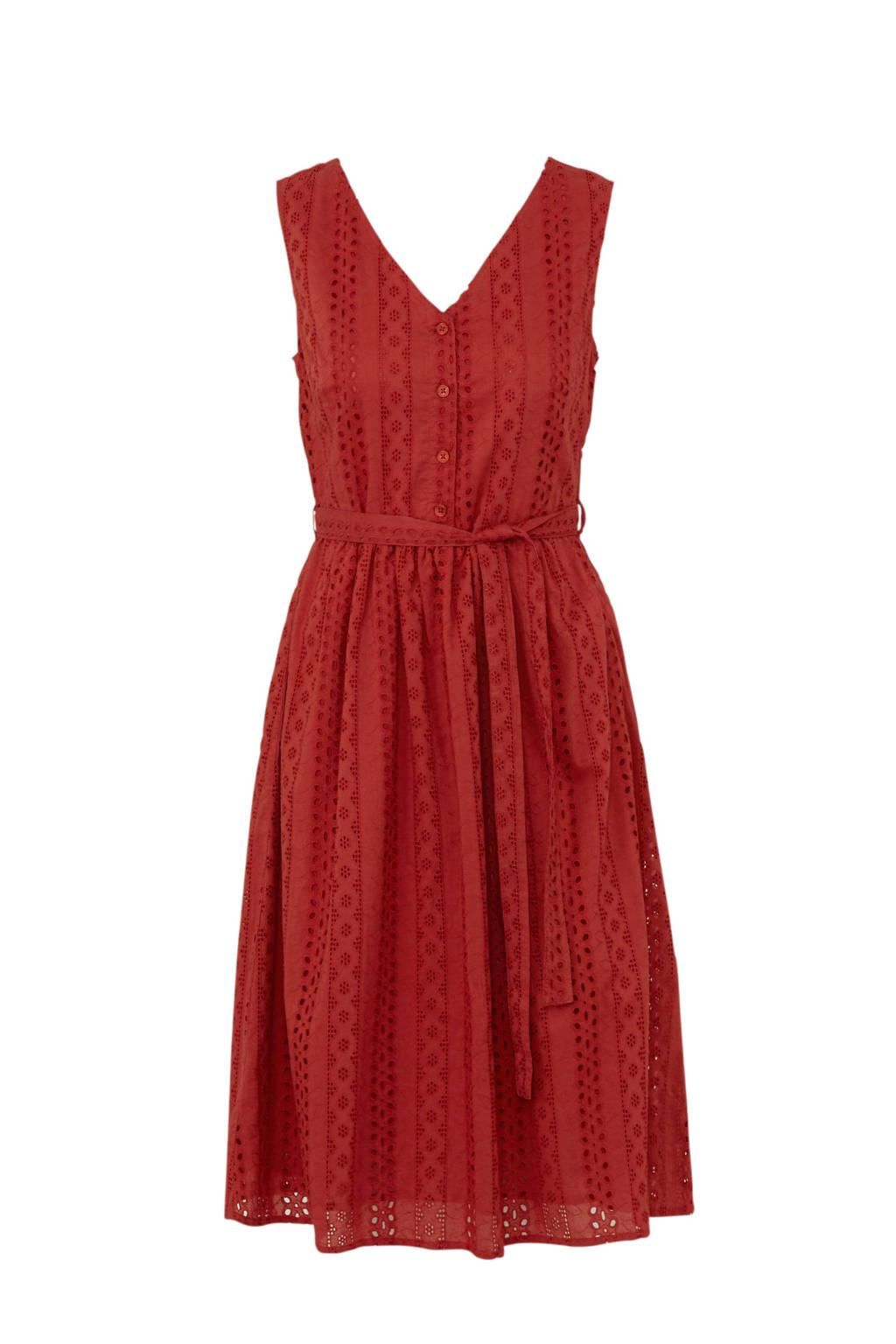 C&A Yessica jurk rood met borduursels, Rood