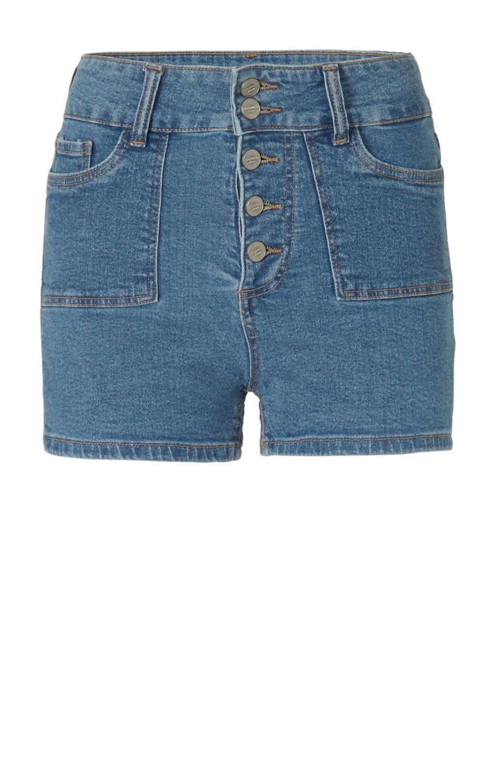 C&A Clockhouse regular fit jeans short blauw, Blauw
