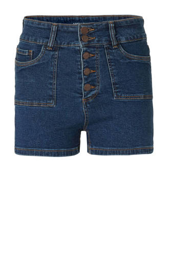 Clockhouse regular fit jeans short donkerblauw