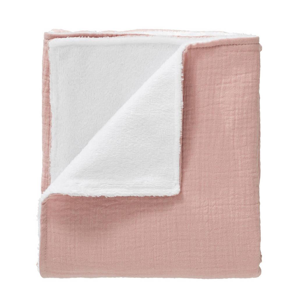 Cottonbaby baby wiegdeken soft 75x90 cm roze, Oudroze