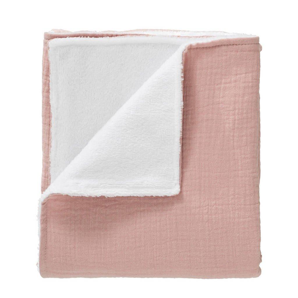 Cottonbaby wiegdeken soft 75x90 cm roze, Oudroze