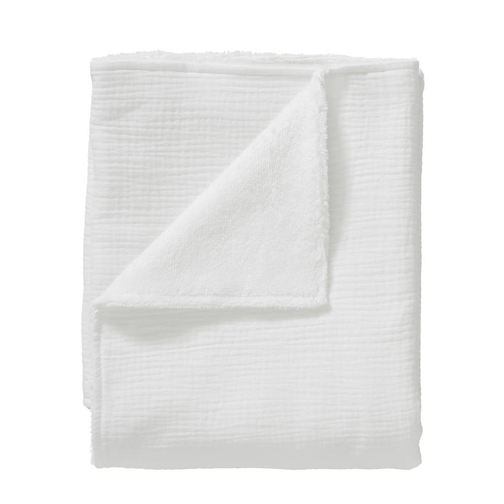 Cottonbaby wiegdeken soft 75x90 cm wit, Wit