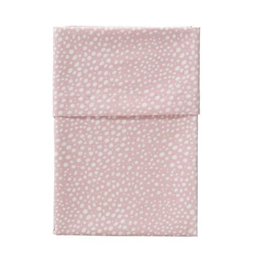 Cottonbaby ledikantlaken hagel 120x150 cm roze