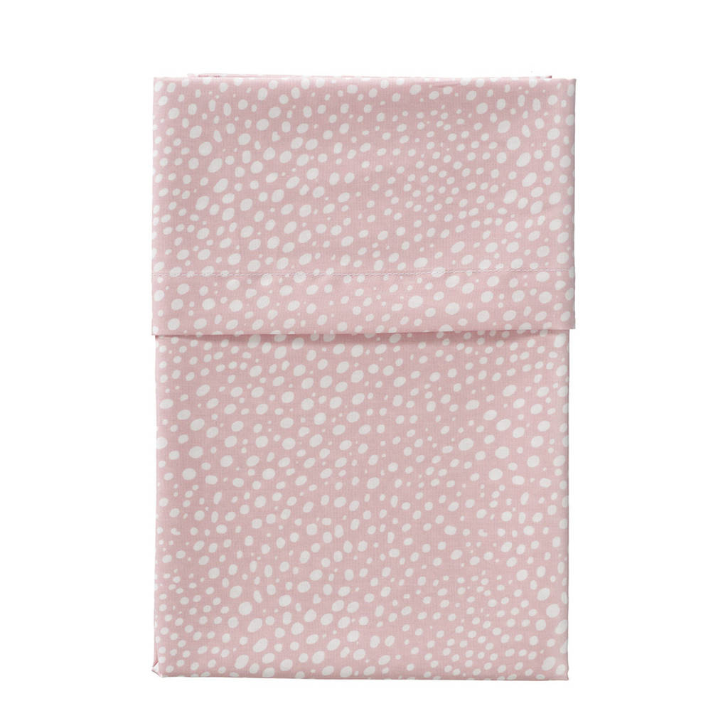 Cottonbaby ledikantlaken hagel 120x150 cm roze, Roze