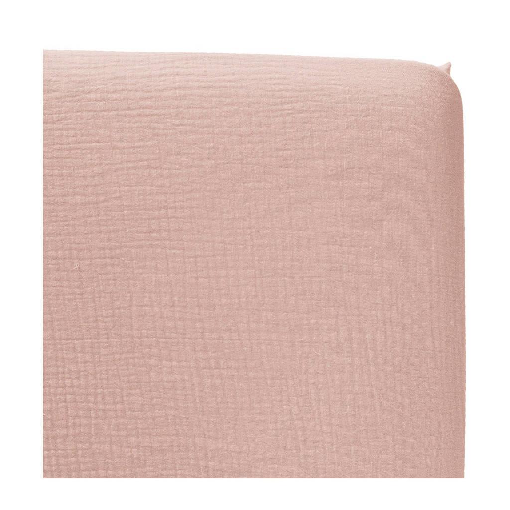 Cottonbaby katoenen hoeslaken wieg soft 40x80 cm Oudroze