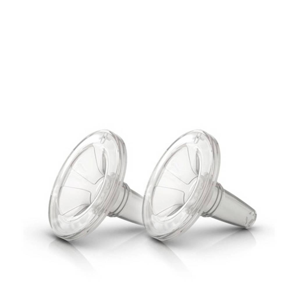 Ardo Optiflow borstmassage inzetstuk 26mm (2 stuks), doorzichtig