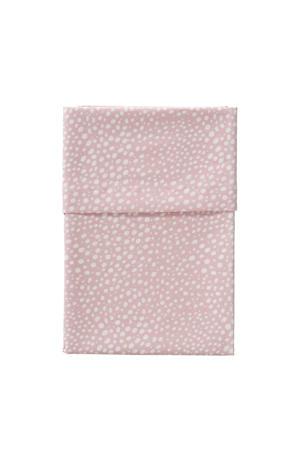 wieglaken hagel 75 x 90 cm roze