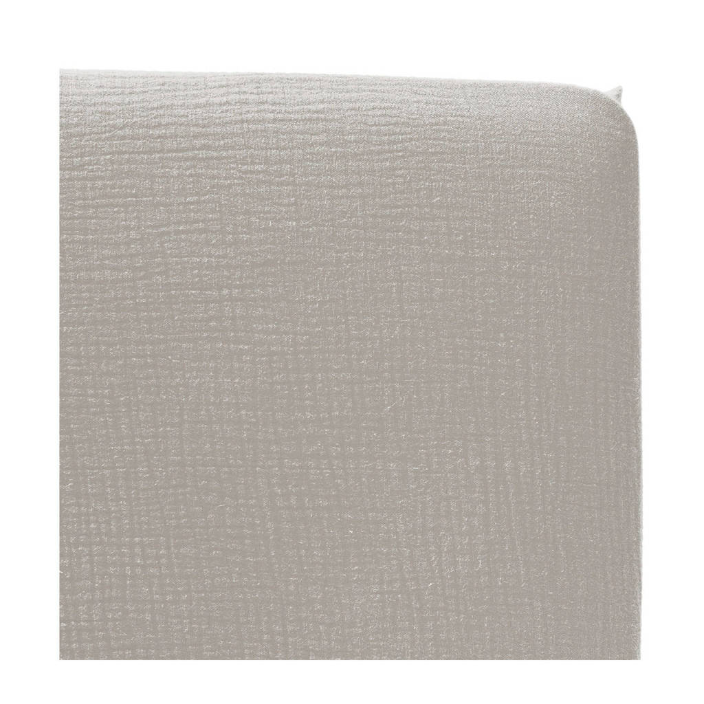 Cottonbaby katoenen hoeslaken ledikant soft 60x120 cm Grijs