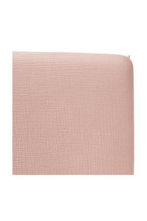 katoenen hoeslaken ledikant soft 60x120 cm Oudroze
