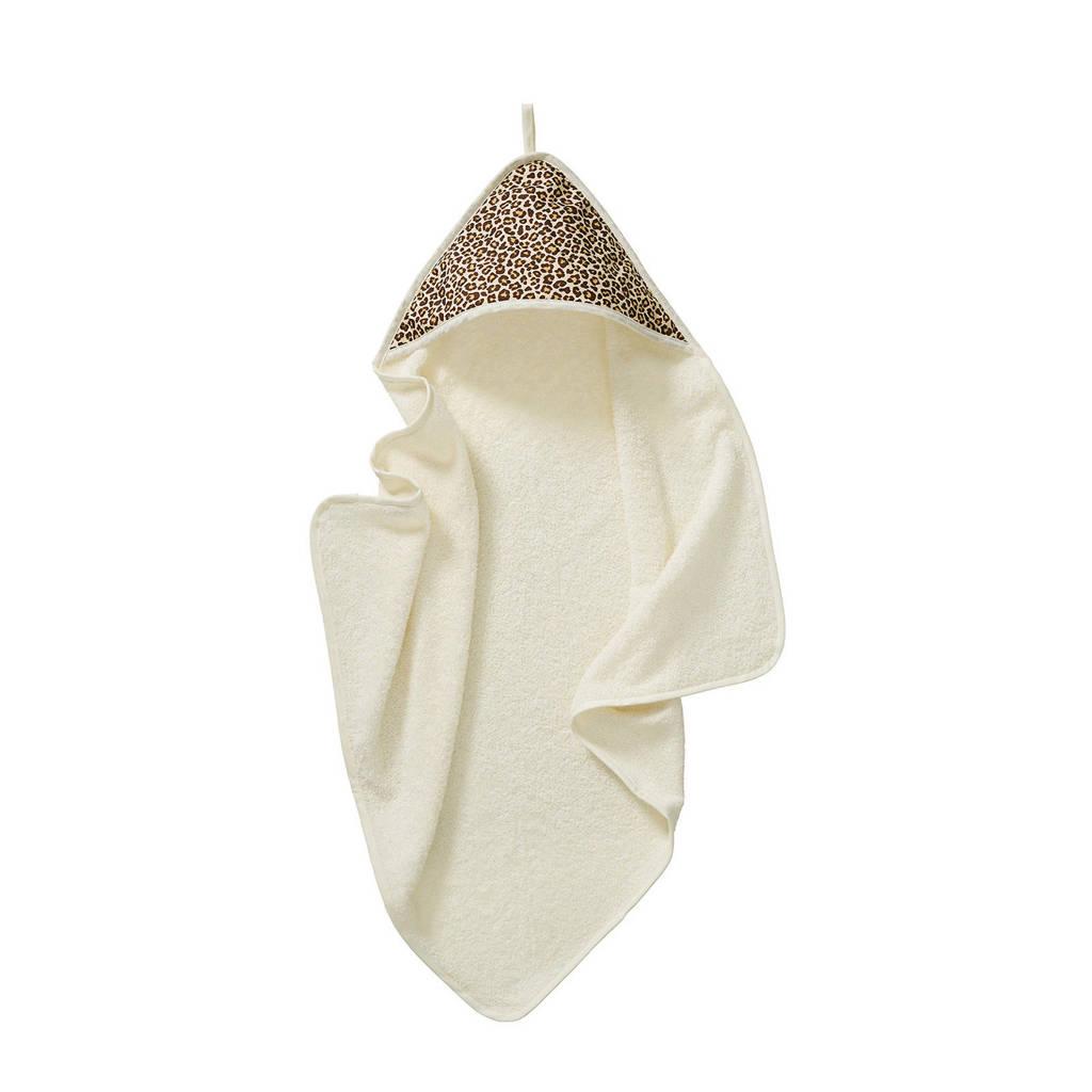 Cottonbaby badcape 75x75 cm panter bruin, Bruin