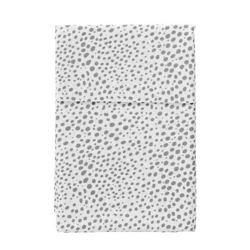 Cottonbaby ledikantlaken hagel 120x150 cm grijs