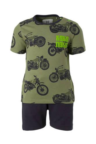 baby set T-shirt + short legergroen