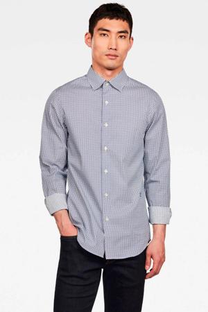 super slim fit overhemd Atton blauw