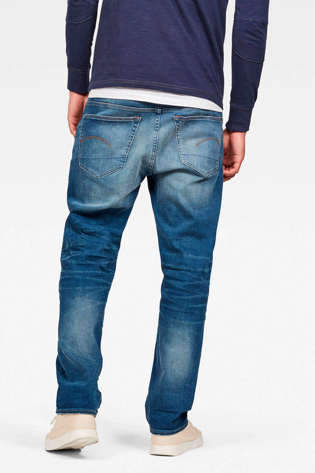 G-Star RAW 3301 regular fit jeans worker blue fade, Worker blue fade
