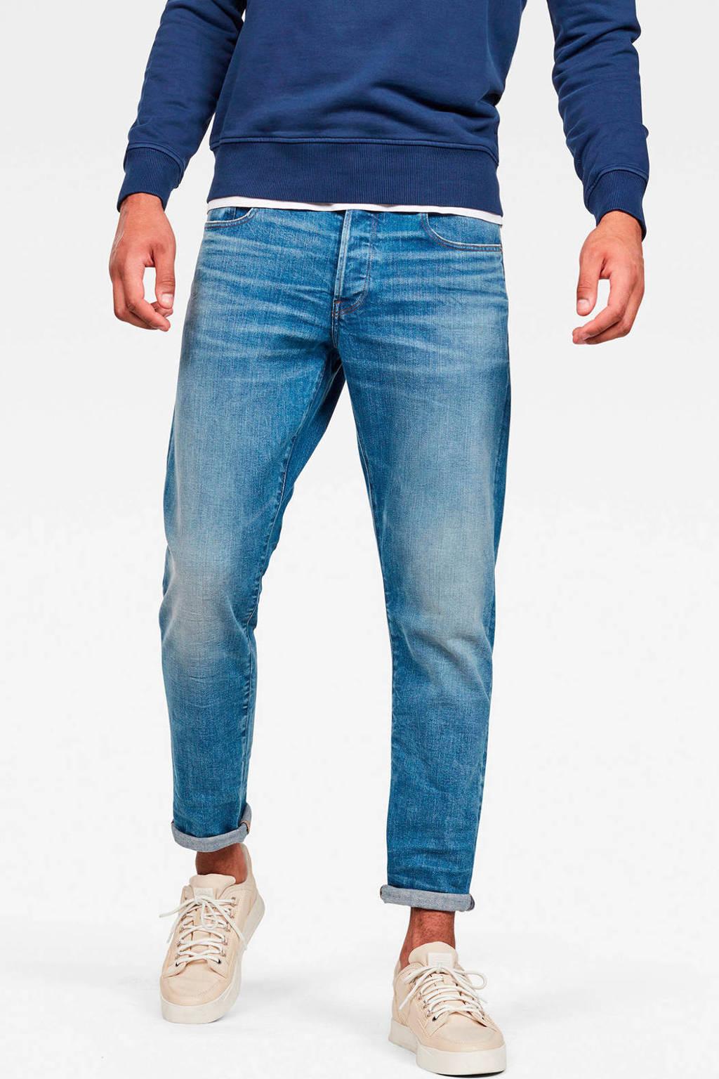 G-Star RAW straight fit jeans 3301 worn in azure, Worn in azure