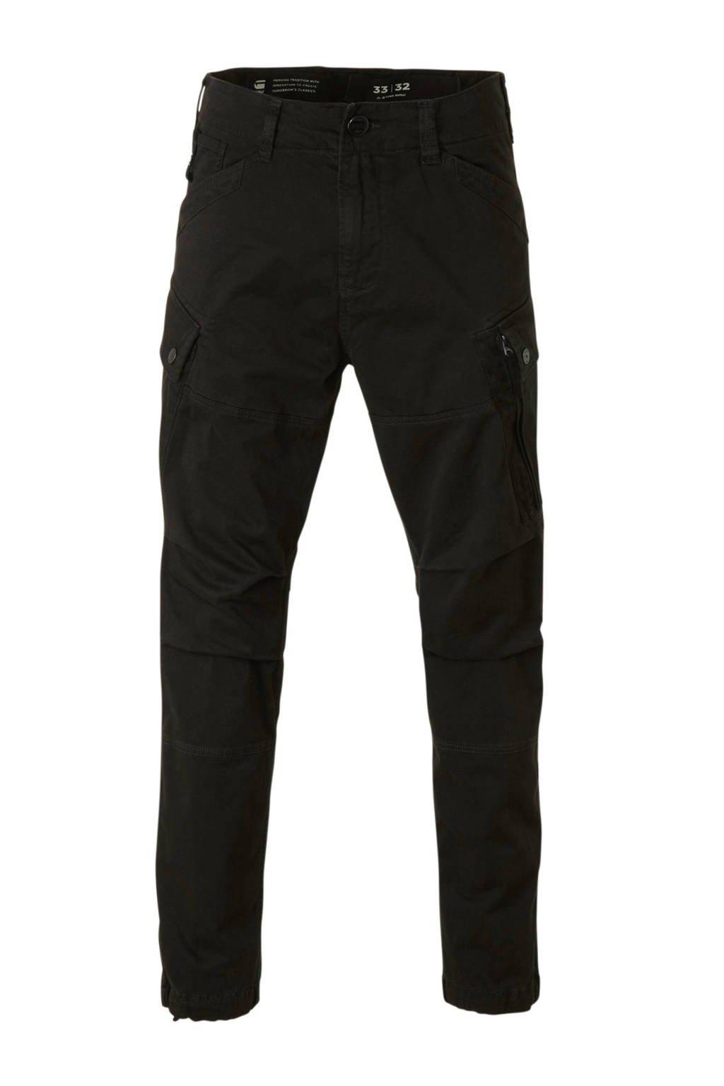 G-Star RAW tapered fit cargobroek zwart, Zwart