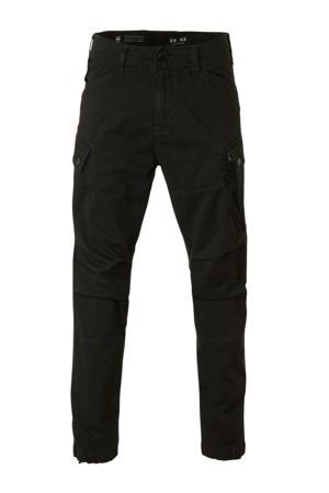 tapered fit cargobroek zwart