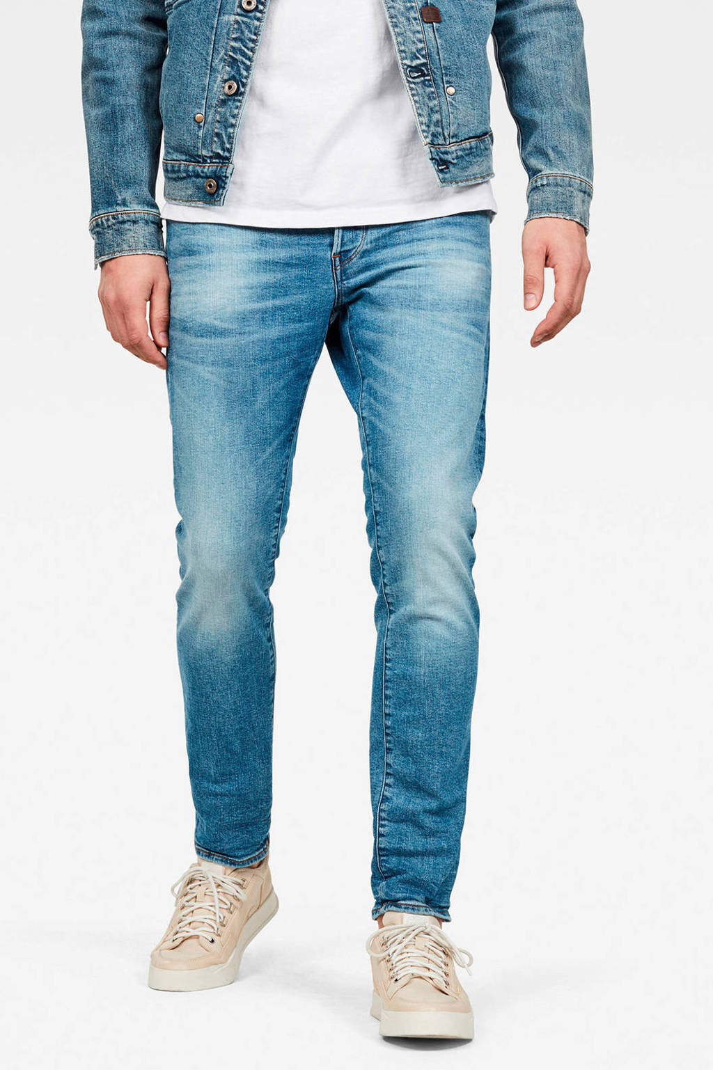 G-Star RAW slim fit jeans 3301 authentic faded blue, Authentic faded blue