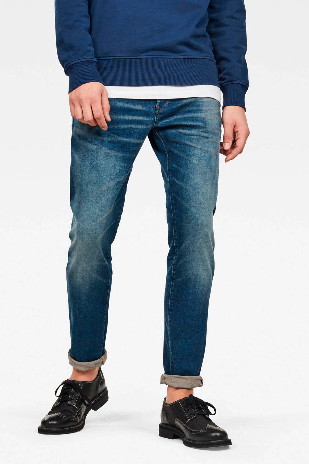 G-Star RAW slim fit jeans 3301 worker blue faded