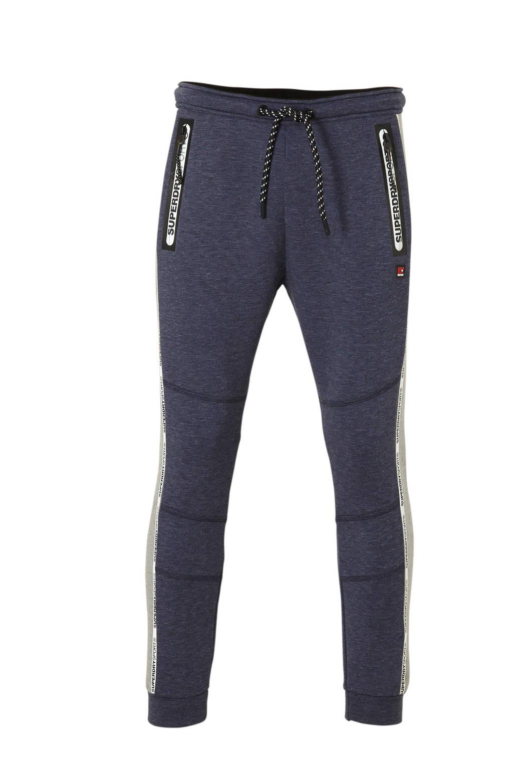 Superdry Sport   sportbroek donkerblauw/grijs, donkerblauw/grijs/rood