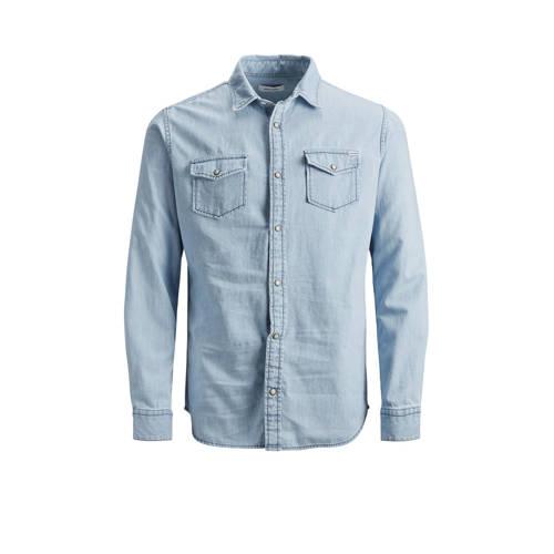 JACK & JONES JEANS INTELLIGENCE slim fit denim overhemd Sheridan lichtblauw