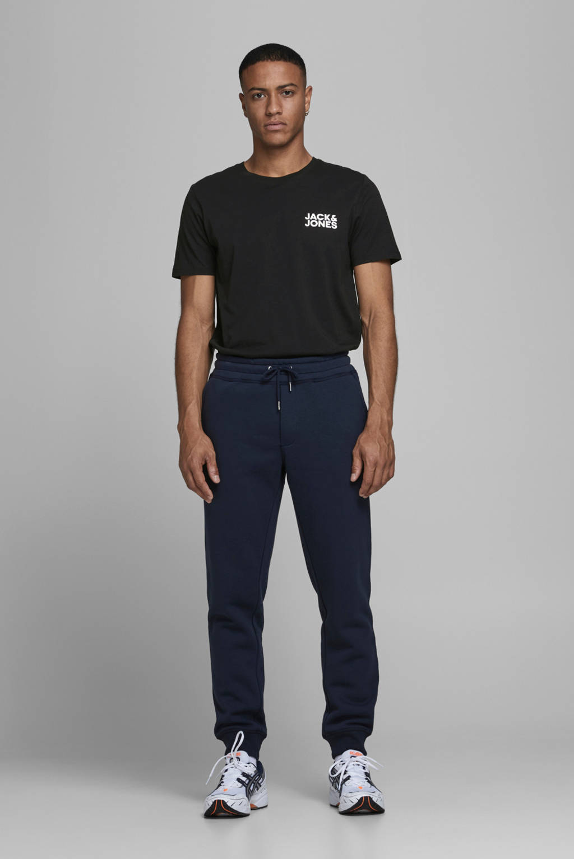 JACK & JONES ESSENTIALS T-shirt Jjecorp met logo zwart, Zwart