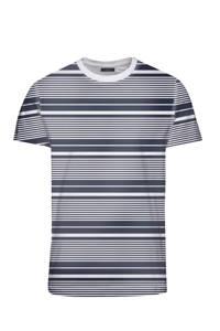 JACK & JONES PREMIUM T-shirt gestreept, Wit/donkerblauw