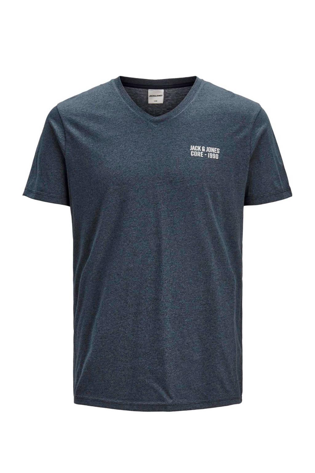 JACK & JONES CORE gemêleerd T-shirt donkerblauw, Donkerblauw