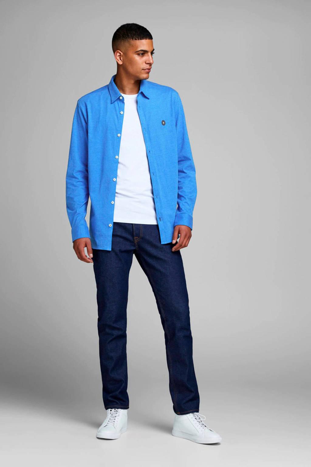 JACK & JONES CORE gemêleerd slim fit overhemd lichtblauw, Lichtblauw