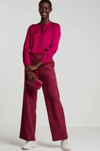 Fabienne Chapot satijnen blouse Sunset paars, Paars