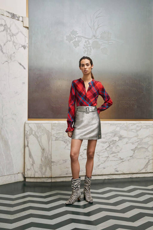 Fabienne Chapot geruite blouse rood, Rood