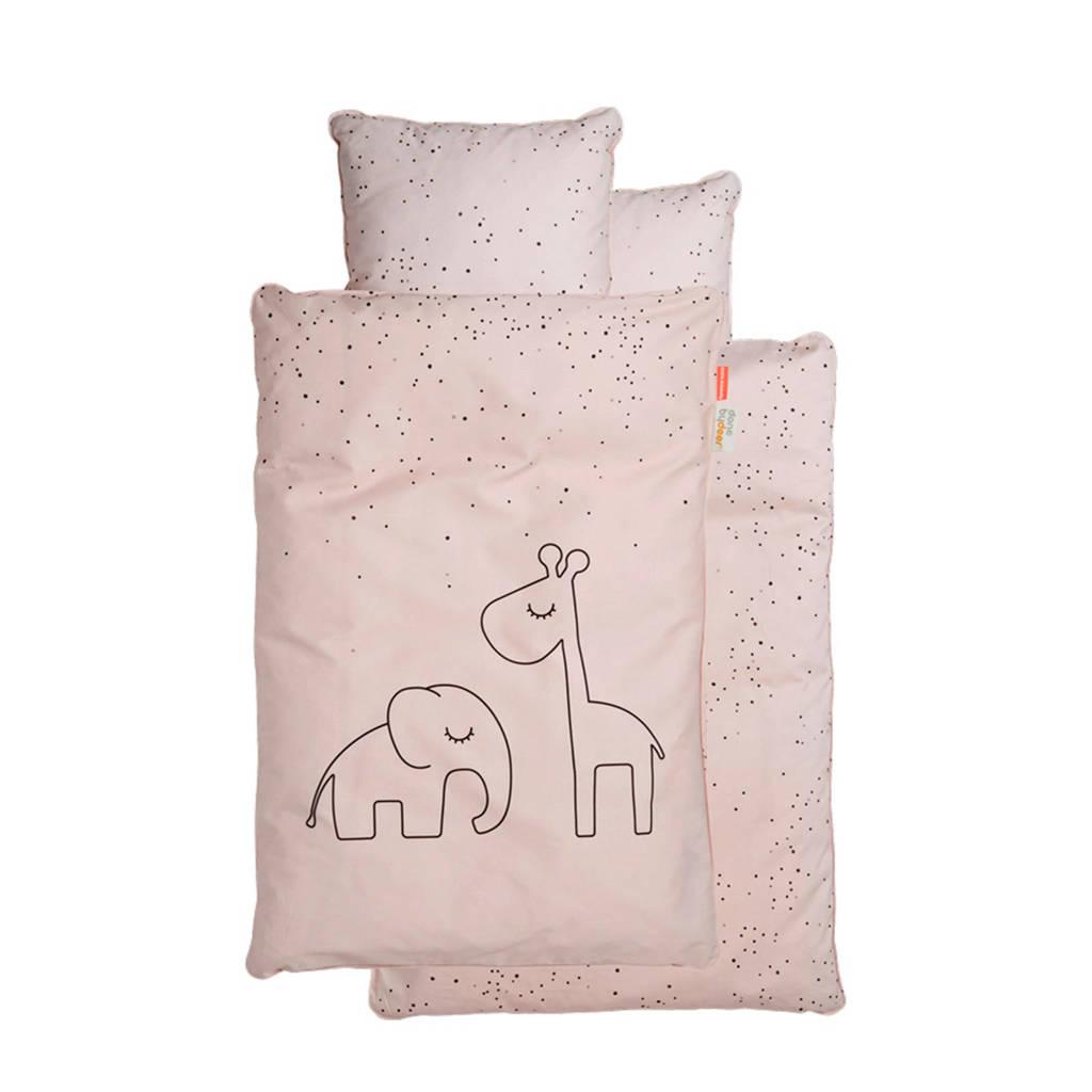 Done by Deer ledikant dekbedovertrek (100x135 cm) roze, Roze